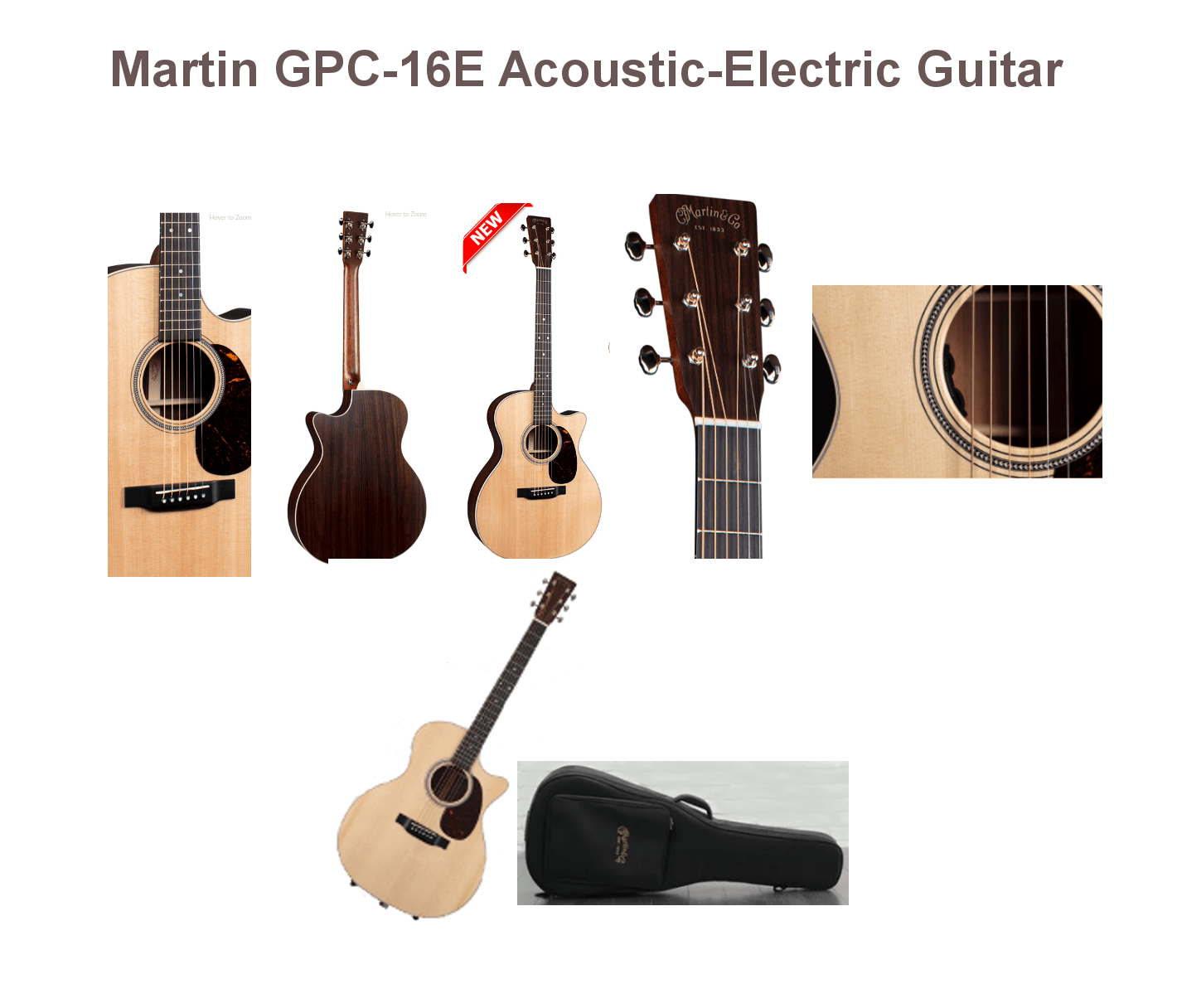 Martin GPC-16E Acoustic-Electric Guitar