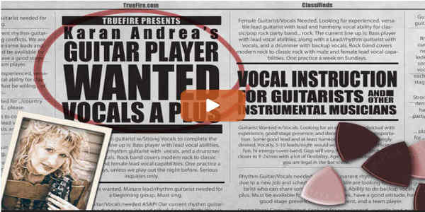 Singing Lessons for Guitarists